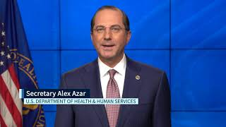 Hhs secretary alex azar delivers a message on national rural health day, emphasizing the trump administration's commitment to improving and transforming rura...
