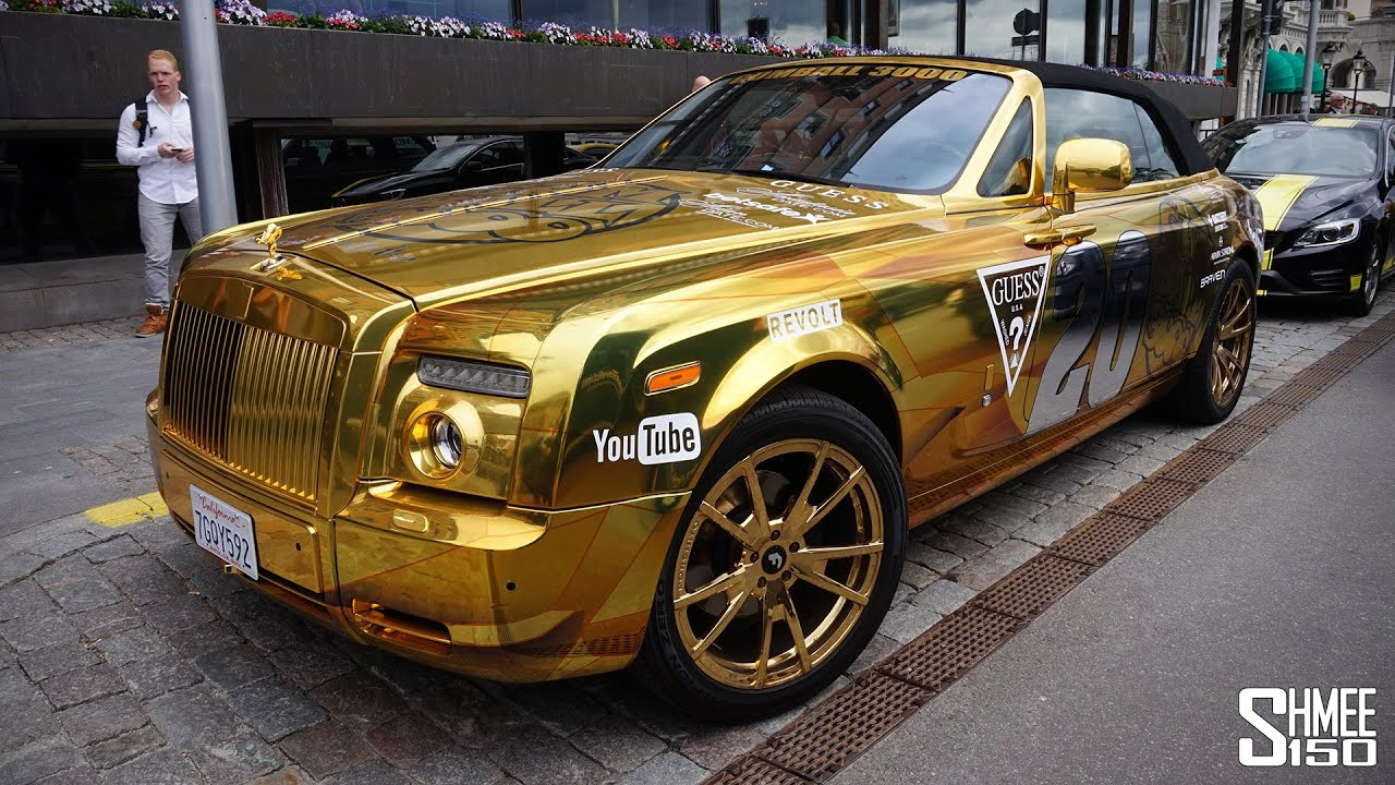 Team Goldfinger Rolls-Royce Drophead - Gumball 3000 2015 - YouTube
