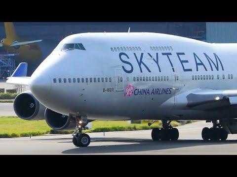 10 VERY CLOSE UP Big Plane Takeoffs | TPE Taipei Taoyuan Airport Plane Spotting