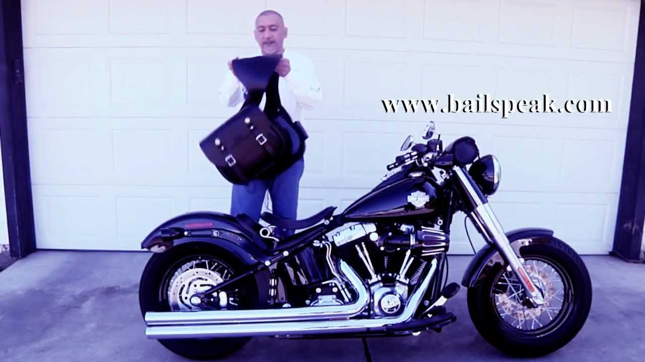 Harley Davidson Saddlebags >> Softail Slim Throw Over Saddlebags No Relocation Kits ...