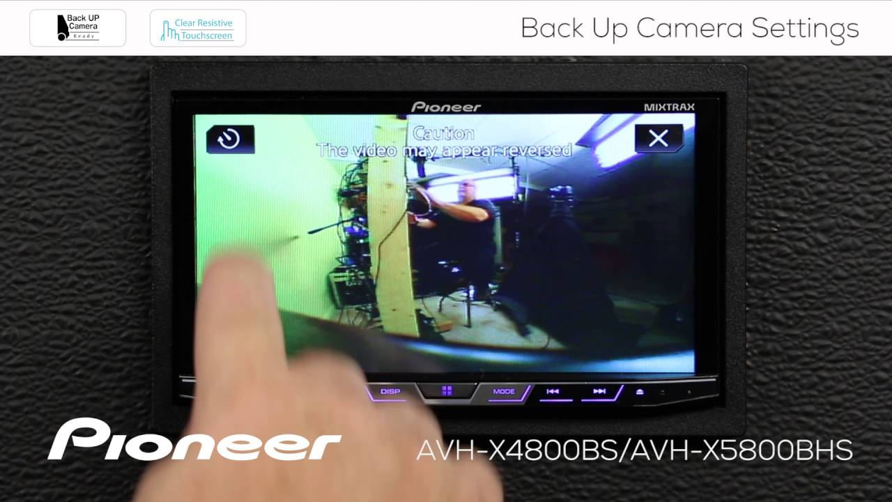 How To Avh X4800bs Back Up Camera Settings Youtube Pioneer P4000dvd Installation Manual