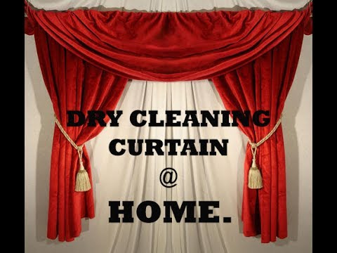 DRY CLEAN CURTAIN AT HOME HOW TO CLEANING METHOD LAUNDRY