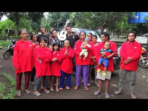 Mt Agung. Evacuation Camps Visit. North Bali. New Years Eve 2017.