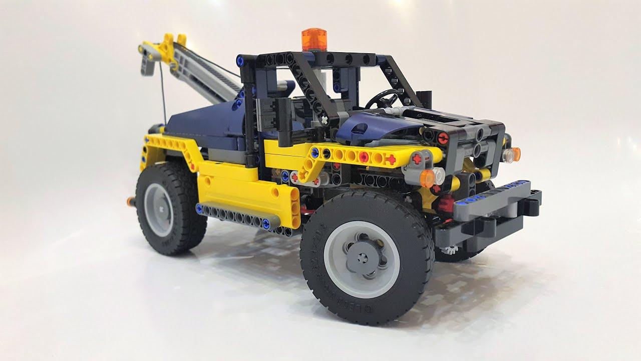 Lego Technic 42079 B Model Tow Truck Review + Motorization - YouTube