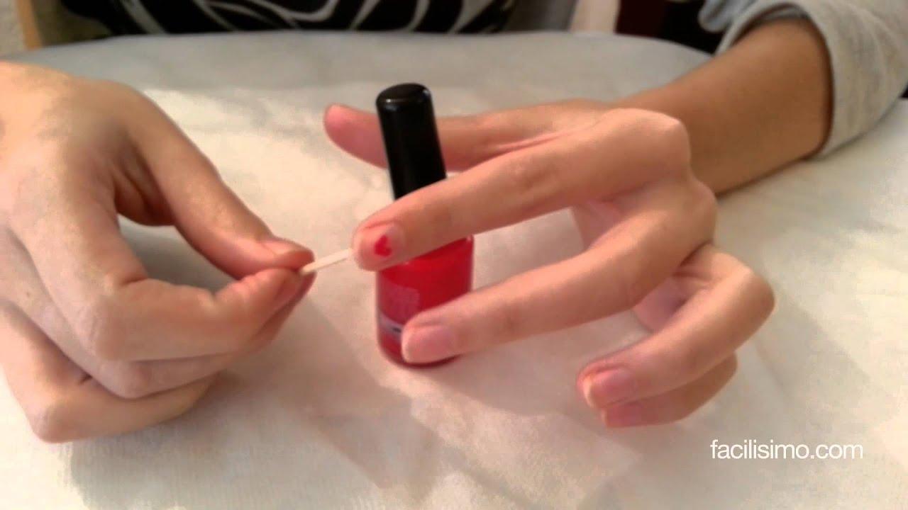 Cómo hacer un corazón en las uñas | facilisimo.com - YouTube