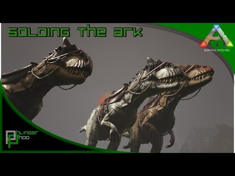 Soloing the Ark S4E44 - Triple Allosaurus Taming + New Metal refinery!