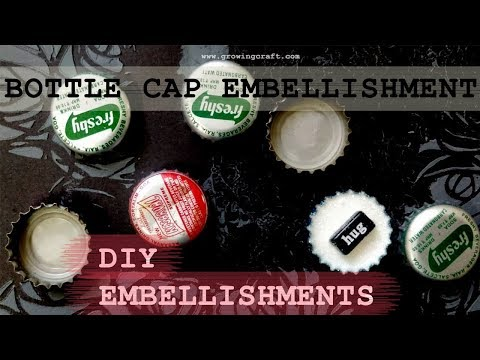DIY embellishments for scrapbooking - Altered bottle cap♥handmade gifts and decor