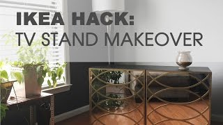 IKEA Hack: How To Makeover An IKEA TV Stand