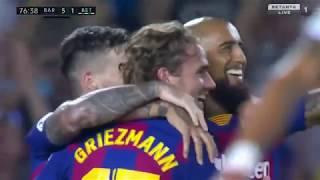 그리즈만 베티스전 데뷔골&멀티골 활약 5:2 바르셀로나 승리 Antoine Griezmann vs Real Betis