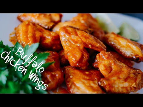 Baked Buffalo Chicken Wings w/ Blue Cheese Dipping Sauce