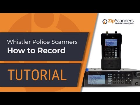 Whistler Police Scanner | How to Record