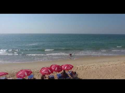 paradise beach, maharashtra state, india, drone video