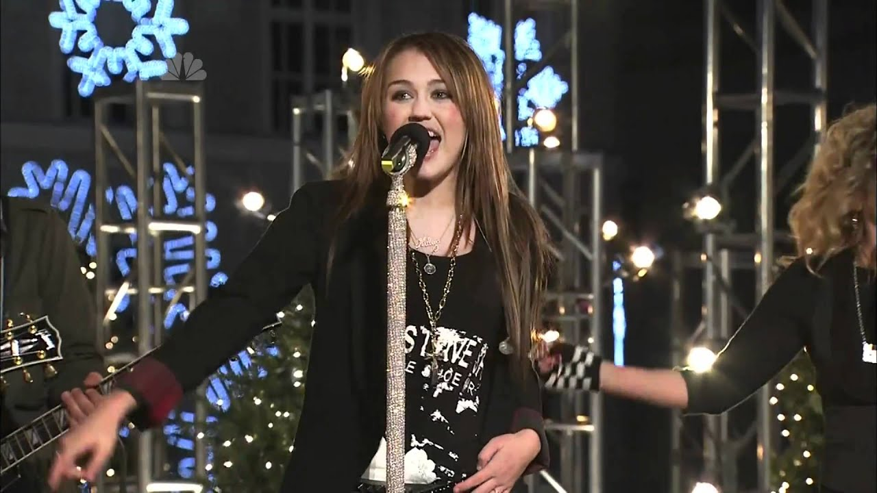 Rockin' Around the Christmas Tree - Miley Cyrus [Live] Rockefeller ...