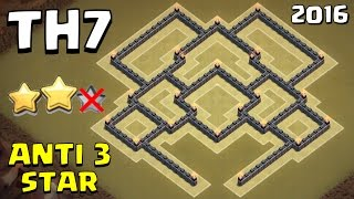 New TH7 WAR BASE [Anti 3 Star] - Town Hall 7 Base 2016 UNDEFEATED   Clash of Clans