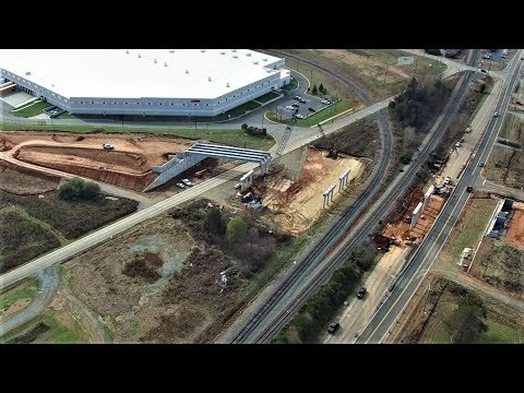Aerial View Of N.C. 119 North Relocation Project - Mebane, NC