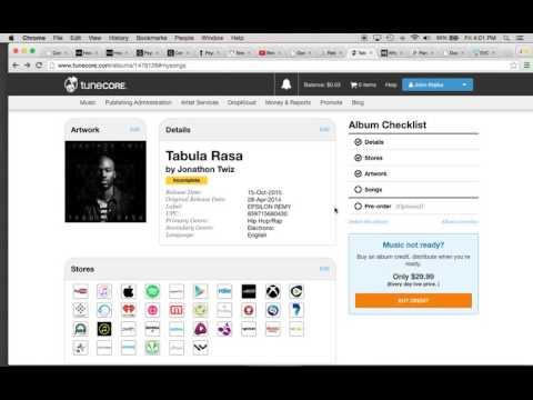 TuneCore Music Uploading Issue