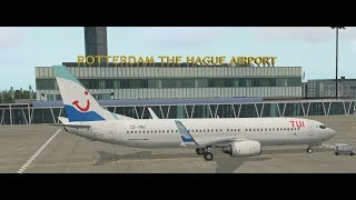 [X Plane 11] TFL10D Rotterdam(EHRD) Rhodos(LGRP) Zibo Boeing 737-800
