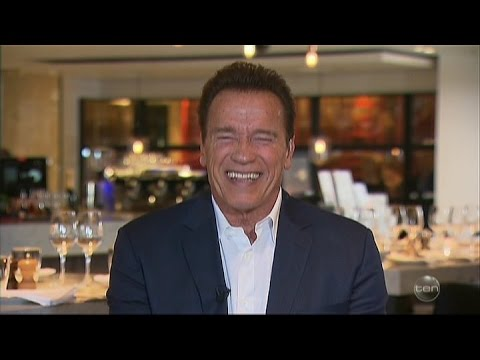 "Arnold Schwarzenegger asked ""The Trump Question"" LIVE on Australian Tv Interview March 17 2017"
