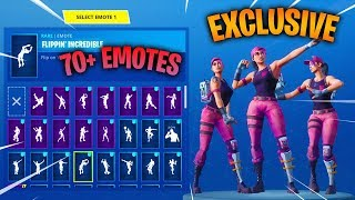 NEW ROSE TEAM LEADER FOUNDERS SKIN WITH +70 FORTNITE DANCE EMOTES! (EXCULSIVE)