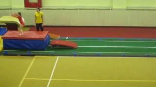 Аня, спортивная гимнастика, опорный прыжок (2) (24.12.2010)