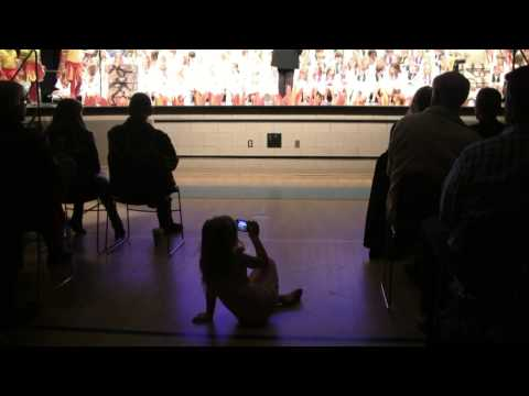 "AMAZING LITTLE GIRL VIDEOTAPING SCHOOL PLAY (""ELIJAH"") AT ADA CHRISTIAN SCHOOL"