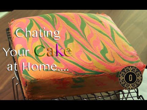 cara-paling-mudah-lorek-kek-marble-|-design-your-cake---design#1