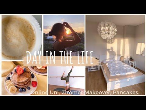 Day in My Life - Online Uni, Zimmer Streichen, Gesunde Pancakes, Home Workout / Quarantäne VLOG