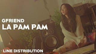 GFRIEND - LA PAM PAM Line Distribution  ????