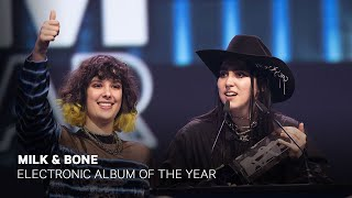 Milk & Bone wins Electronic Album of the Year    Live at the 2019 JUNO Gala Dinner & Awards