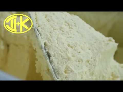 Перемешивание творога в мешалке ДВАК М-400 лопастные шнеки