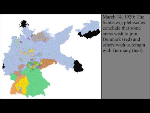 The Territorial Changes of Germany After World War I