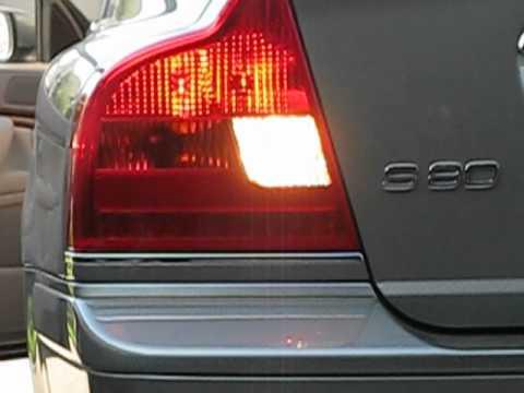Volvo S80 LED brake lights YouTube