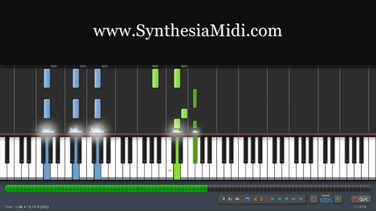 how to add midi files to synthesia