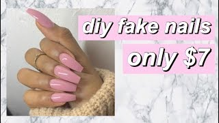 DIY EASY FAKE NAILS - SAVE YOUR $$$