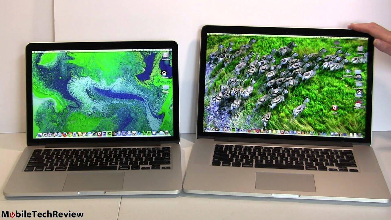 13 vs 15 inch laptop 2014 retina macbook pro 13 quot vs 15 quot comparison smackdown #11