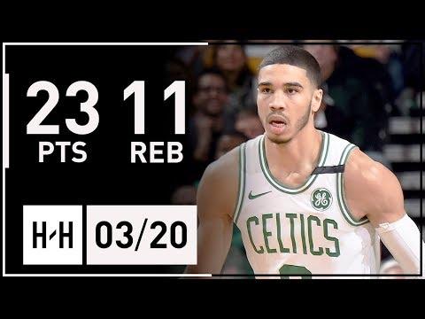 Jayson Tatum Full Highlights Celtics vs Thunder (2018.03.20) - 23 Points, 11 Reb