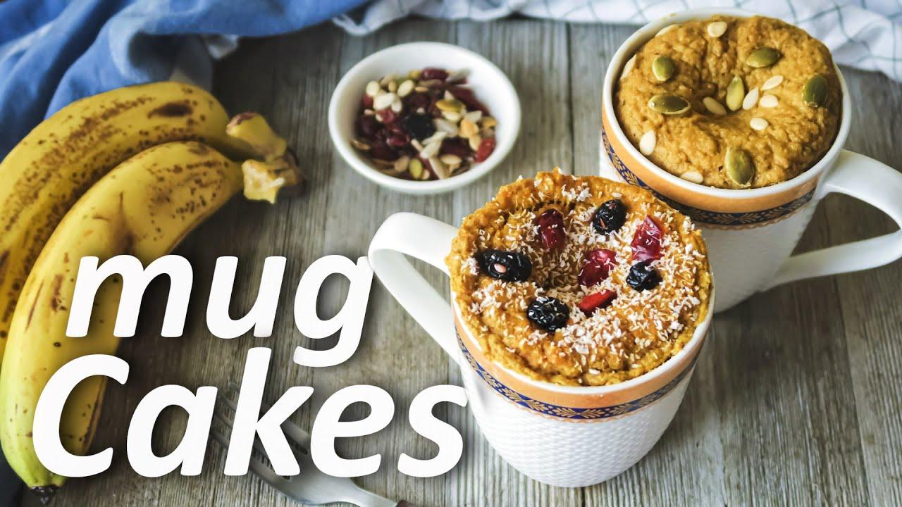 Sugarfree Healthy Mug Cake Recipe Without Microwave & Oven | Vegan Banana & Eggless Carrot Mug Cake
