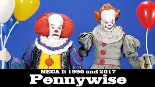 NECA It 1990 and 2017 Pennywise Action Figure Review