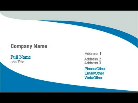 how to make a business card in coreldraw