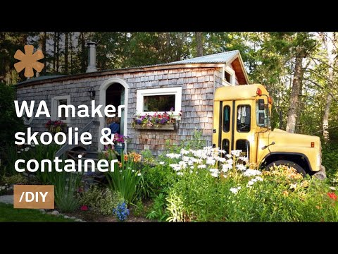 WA maker turns skoolie, short-bus & container into home-office