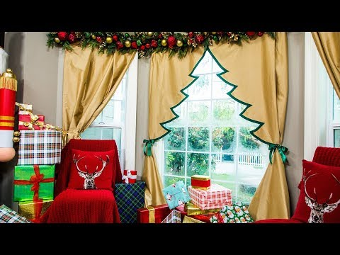 DIY Christmas Tree Curtain - Home & Family