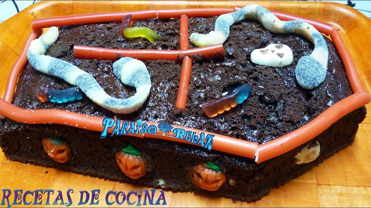 Bizcocho de chocolate especial halloween recetas de for Cocina facil y rapido de preparar