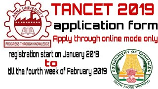 TANCET COUNSELING 2019 Application Form, Dates, How to Apply for Anna University l tamil updates