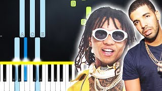 Swae Lee - Won't Be Late ft. Drake (Piano Tutorial) By MUSICHELP