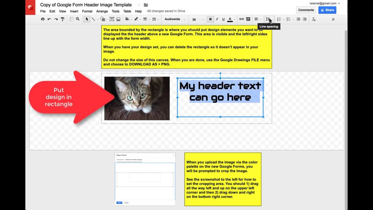 Make A Header Image For Google Forms Youtube