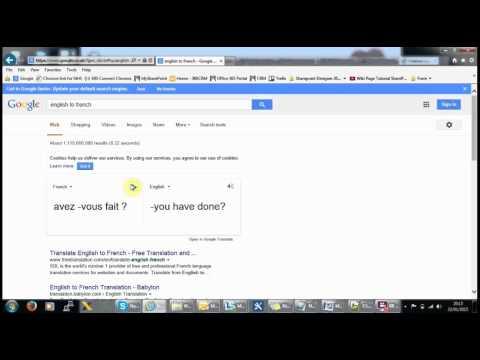 Google Translate - English To French