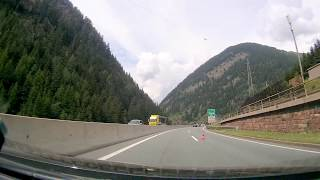 Passing of the Brenner Pass Italy to Austria