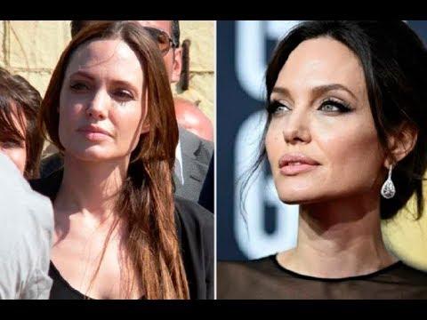 Голливудская звезда Анджелина Джоли без макияжа на фотографиях разных лет