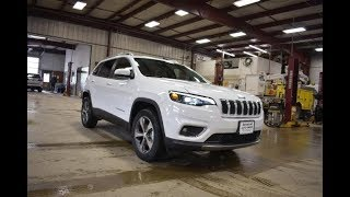 2019 Bright White Jeep Cherokee Limited 4x4 SJ6469 Motor Inn Auto Group