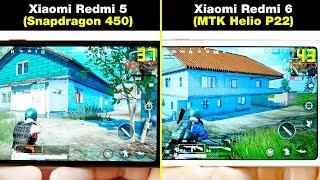 Xiaomi Redmi 6 (Helio P22) vs Xiaomi Redmi 5 (Snapdragon 450) БОЛЬШОЙ ТЕСТ В ИГРАХ! FPS + НАГРЕВ